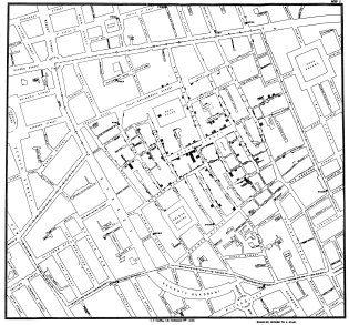 John Snow's cholera map