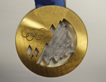 Sochi gold medal. Source: Zastavki.com