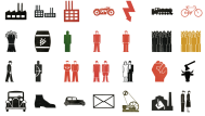 Otto Neurath and Gerd Arntz's Isotype system