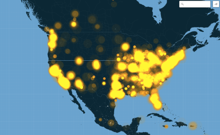 Twitter map of geotagged Tweets mentioning Ferguson around the world