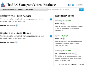 US Congress Votes Database