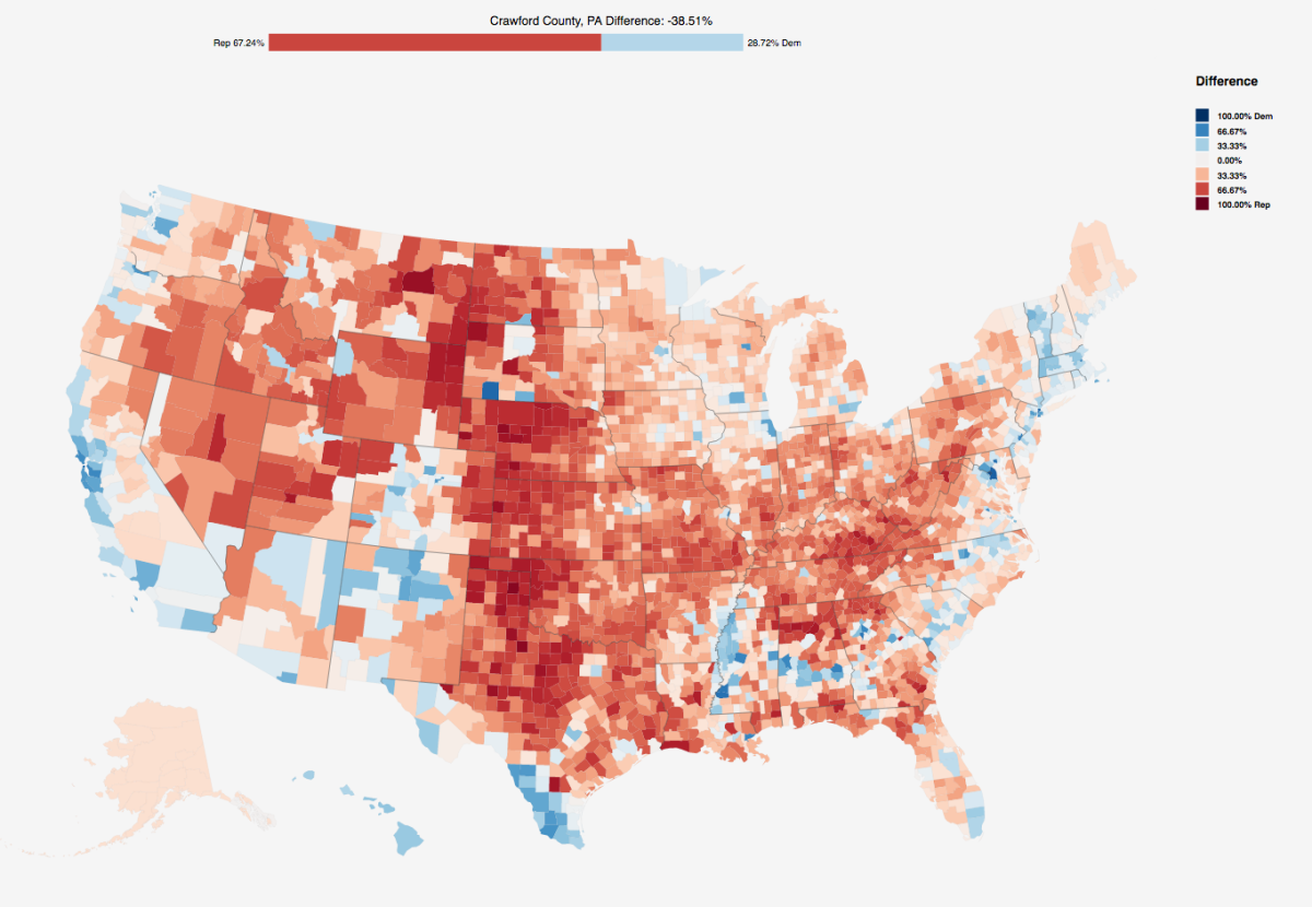 Us Election 2016 How To Download County Level Results Data Simon - Us-map-popular-vote-2016